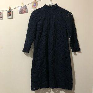 Navy lace dress from Zara